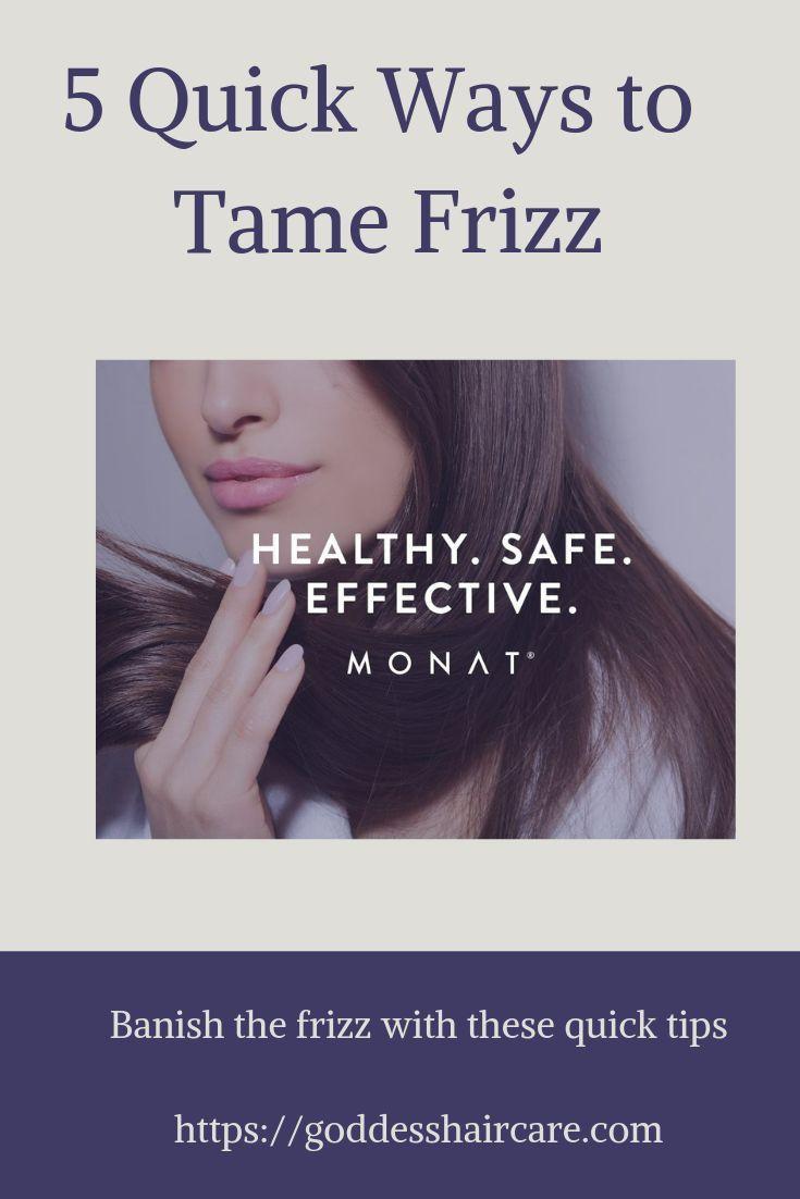 5 Quick Ways To Tame Frizz Hair Sleek Hairstyles Frizzy