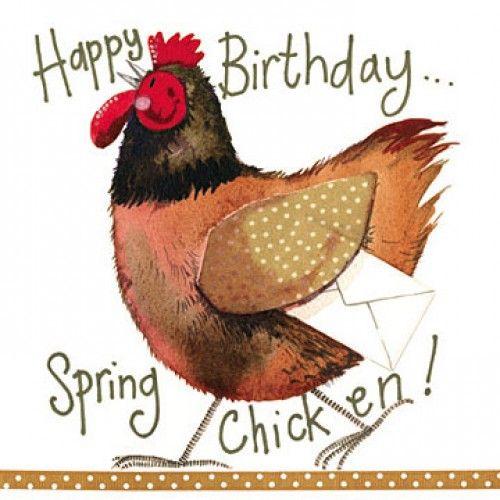 Spring chicken birthday card alex clark pinterest spring chicken spring chicken birthday card bookmarktalkfo Choice Image