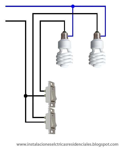 Instalaciones eléctricas residenciales - focos controlados por ...
