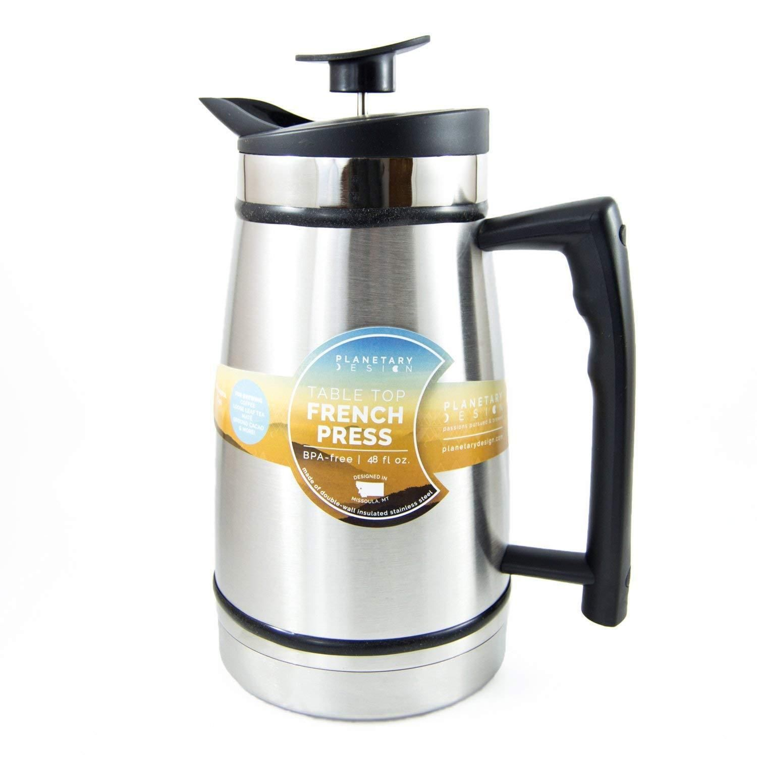 French Press Coffee Maker Machine Kit Tea Stainless Steel