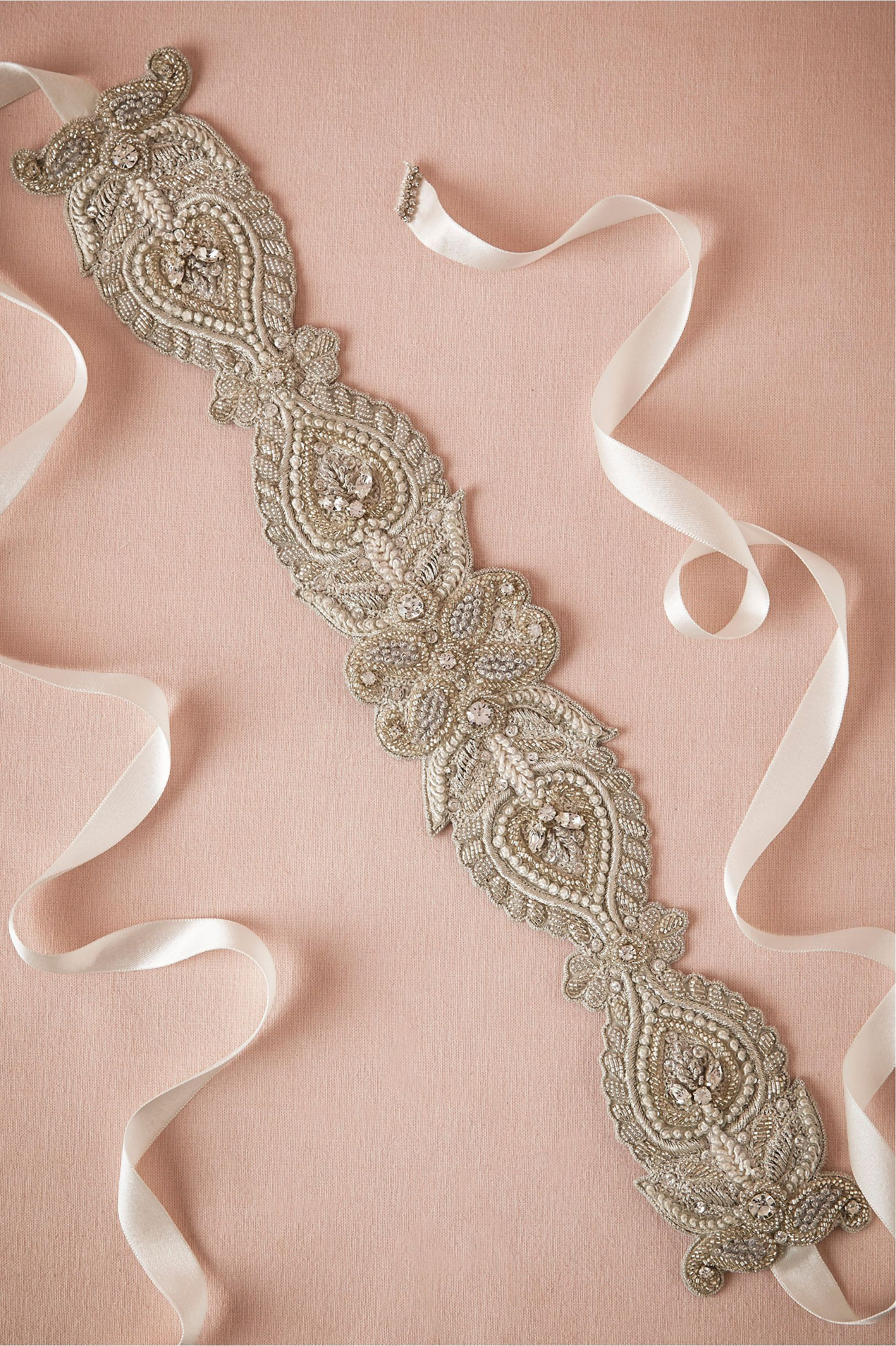 Diamante Fitted Sash in Shoes & Accessories Belts & Sashes at BHLDN ...