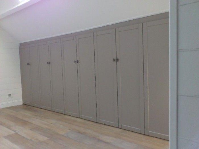 inbouwkasten slaapkamer schuine wand - Google zoeken | slaapkamer ...