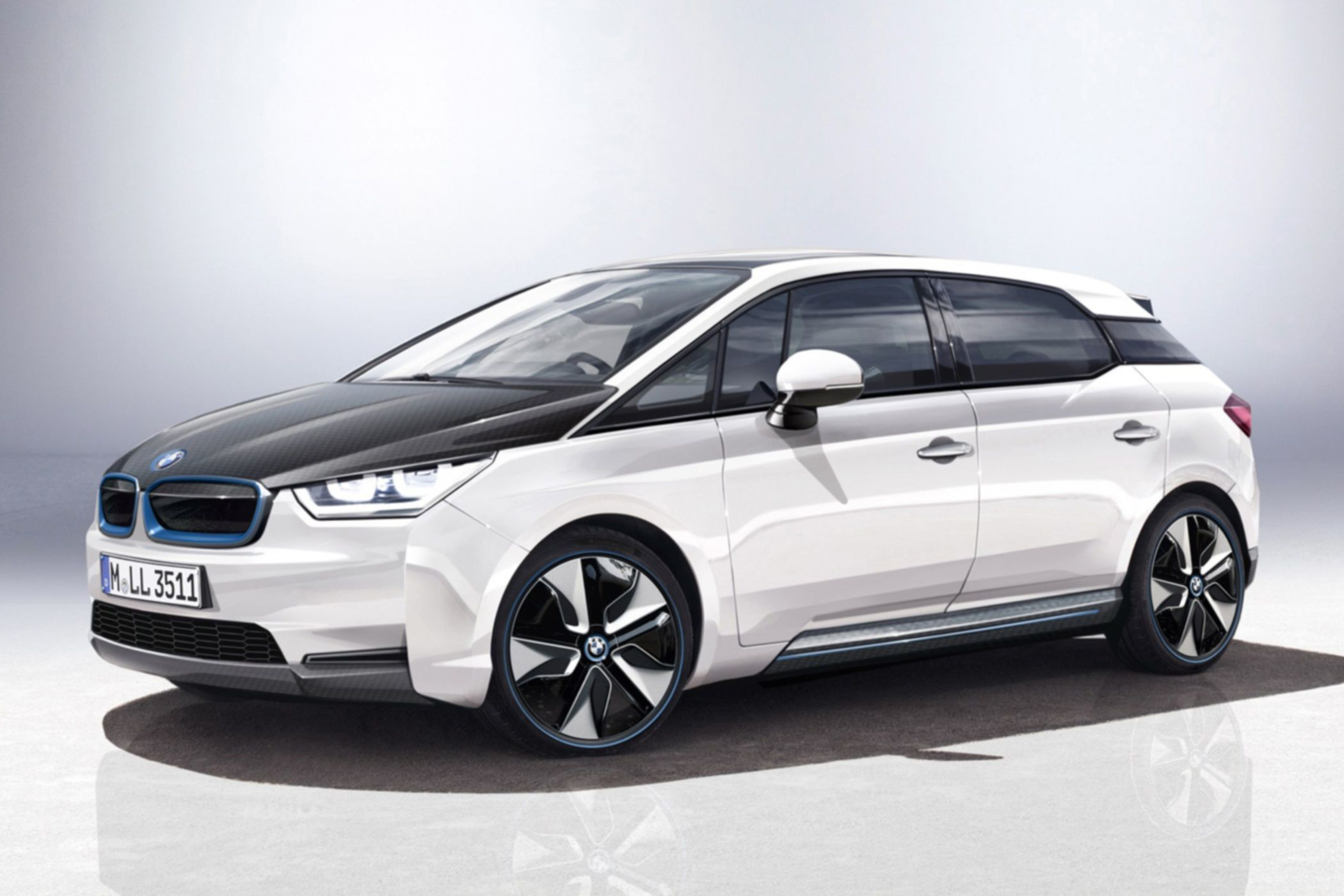 BMW i5. Prototype Electric Midsize Car.  Electric Version of the BWM 5 series.  Available in 2016