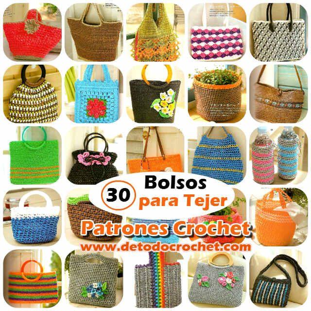 Todo crochet | Patrones de bolso, Revistas y Molde