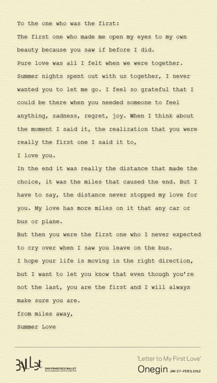 First Love Letter Regrets Relationships And Quotation