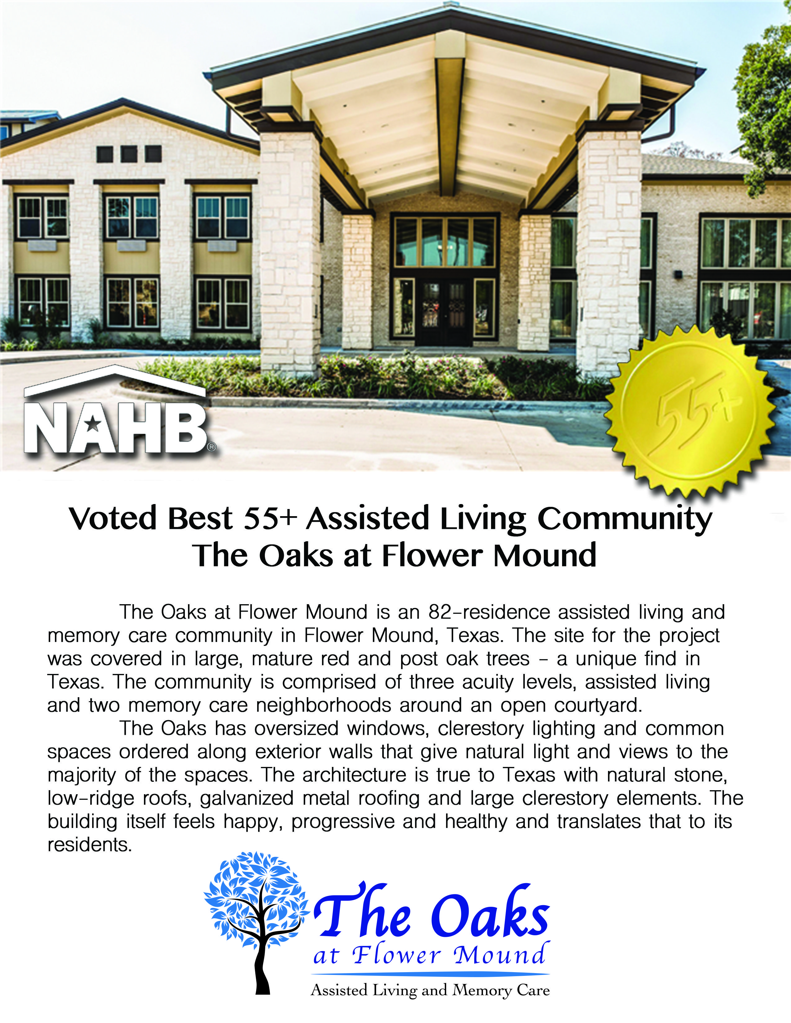 Voted Best 55 Assisted Living Community The Oaks Of Flower Mound The Obvious Choice One Of The Best Decisions You Could Senior Living Assisted Living Oaks