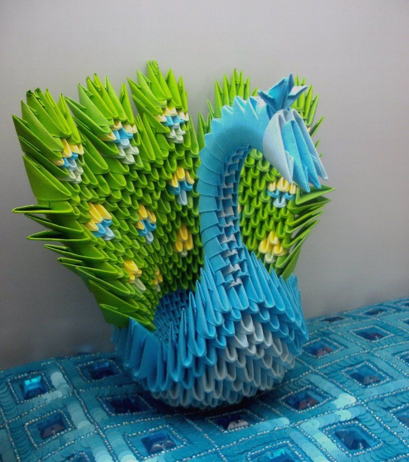 Peacock By Sophie Ekard 052312 Origami Pinterest 3d Instructions Diagram