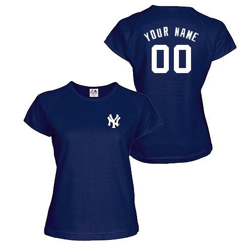 New York Yankees Women S Authentic Font Personalized T Shirt By Majestic Athletic Mlb Com Shop New York Yankees Shirt Yankees T Shirt New York Yankees