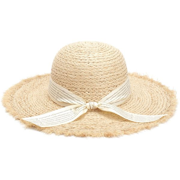 Shein Sheinside Knot Band Raw Trim Straw Hat 17 Liked On Polyvore Featuring Accessories Hats Beige Beige Hat Band Hats Knot Band Beige Hat Hat Band