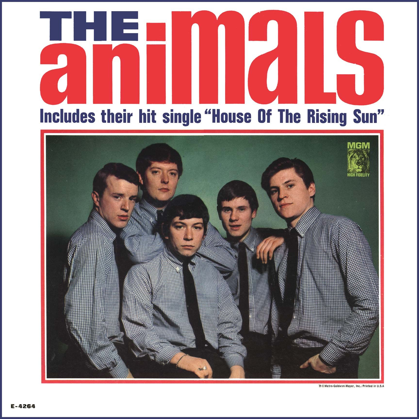 """""""The Animals"""" (1964, MGM). Their first US LP. The only LP"""