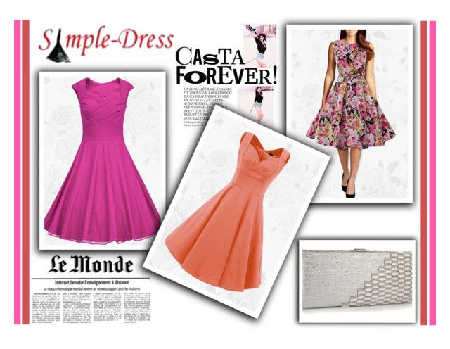 """""""22. Simple-Dress"""" by malasirena989 ❤ liked on Polyvore featuring vintage"""