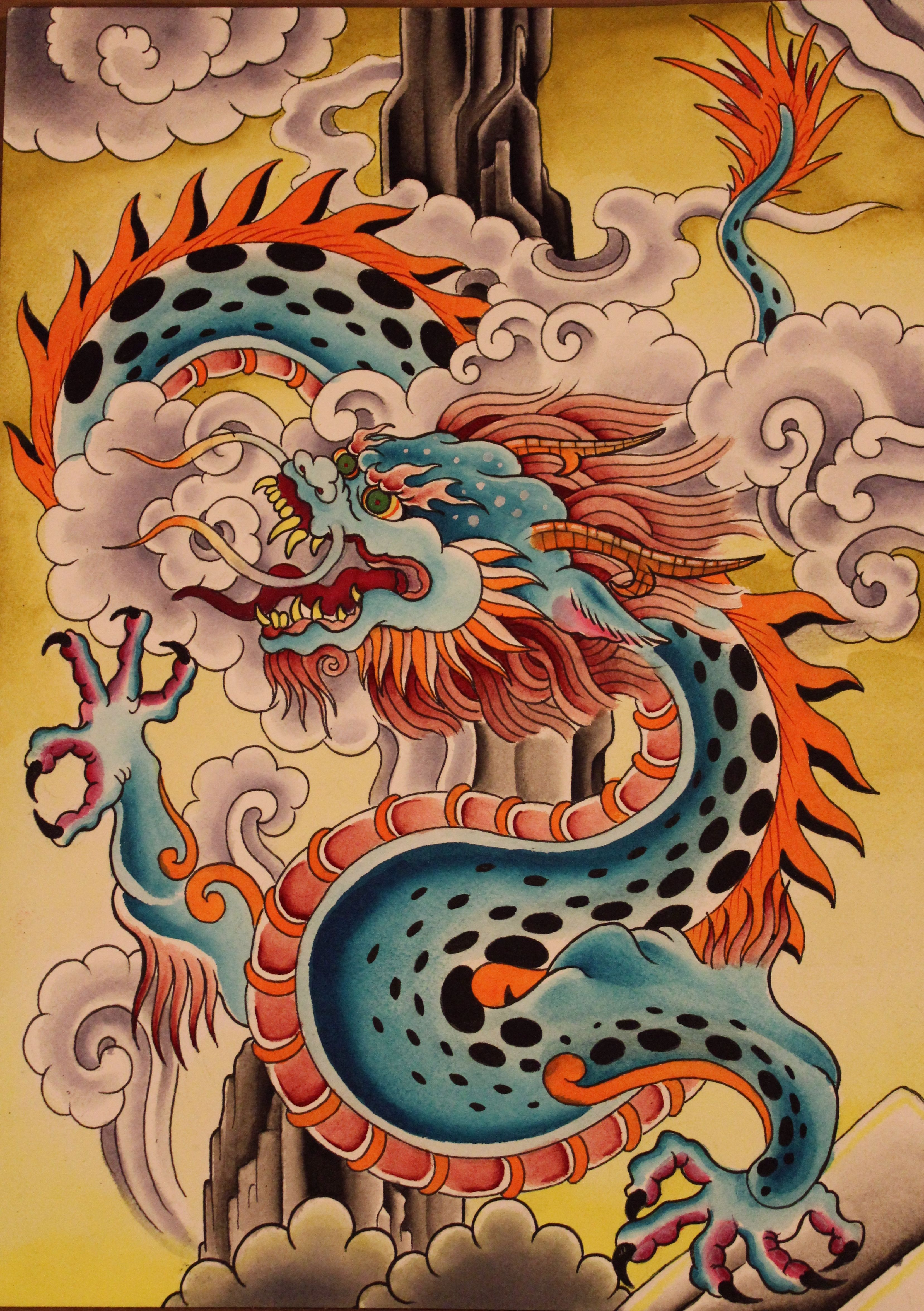 Korean Dragon Tattoo Meaning: Paint It And Put It Away » Tibetan Style