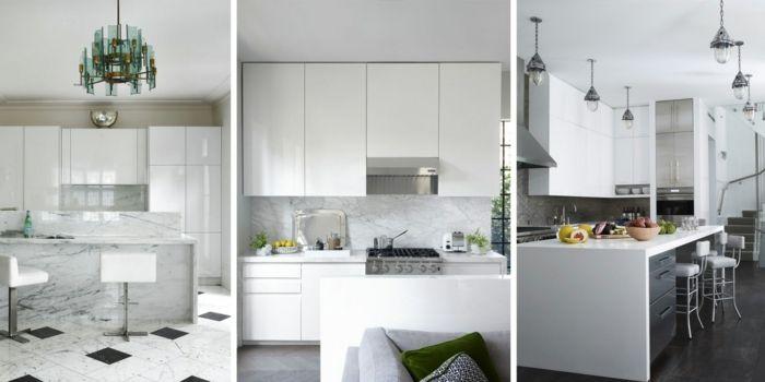▷ 61 Vorschläge zum Thema Weiße Küche, wunderbare Gestaltingsideen - ideen offene kuche wohnzimmer