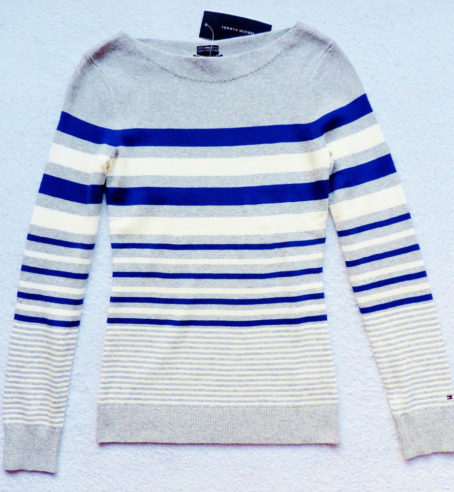 NWT Womens Tommy Hilfiger Pullover, Boatneck, Striped Sweater #TommyHilfiger #BoatNeck