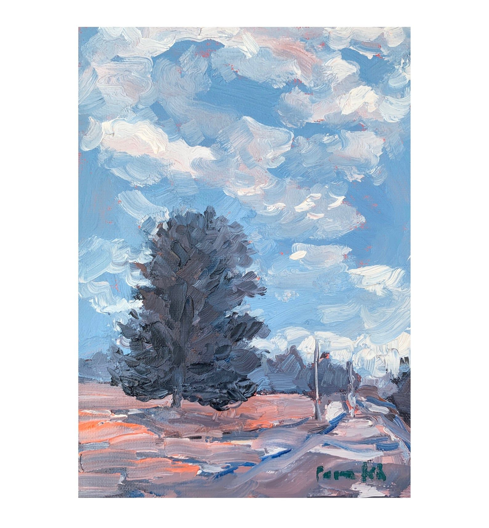 Mini Landscape Oil Painting Original Painting The Lone Pine Etsy In 2020 Oil Painting Landscape Plein Air Paintings Original Paintings