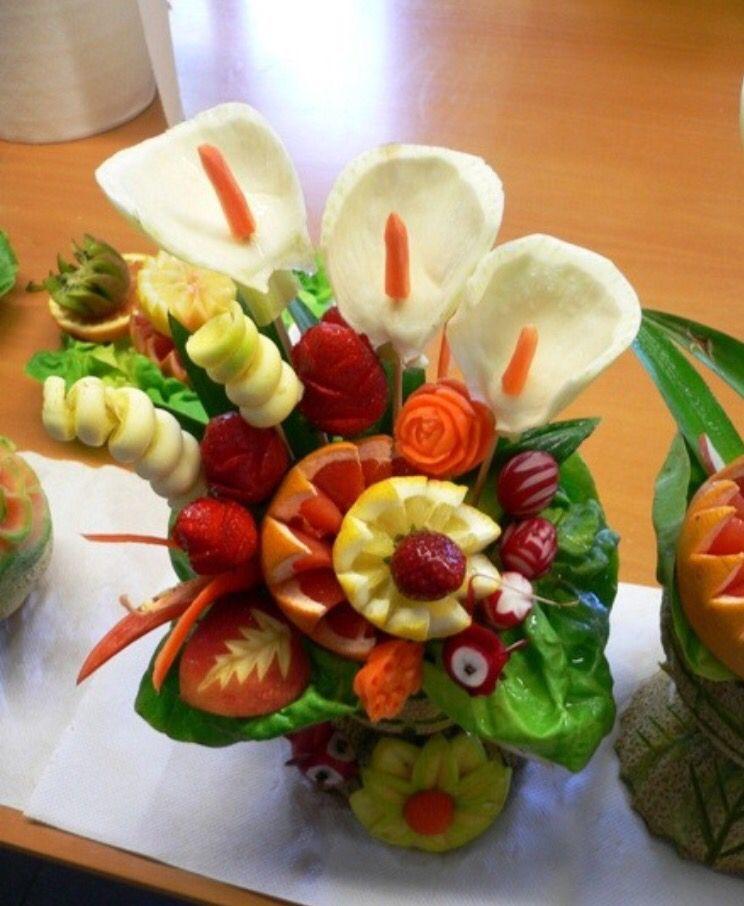 Fiori in frutta
