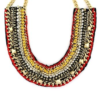 Vince Camuto Macramé Statement Necklace #VonMaur #VinceCamuto #Multicolored #Collar #Bold