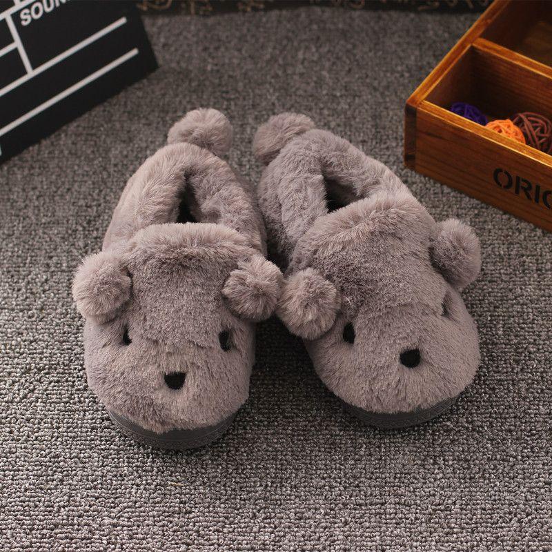 979309f6aab3a Mignon Animaux Enfants Pantoufles D hiver Enfants Filles Garçons Chaussures  Maison de Dessin Animé Chaud