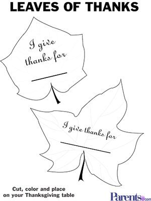 Free Thanksgiving Placecards Stickers  More For Kids  Leaf