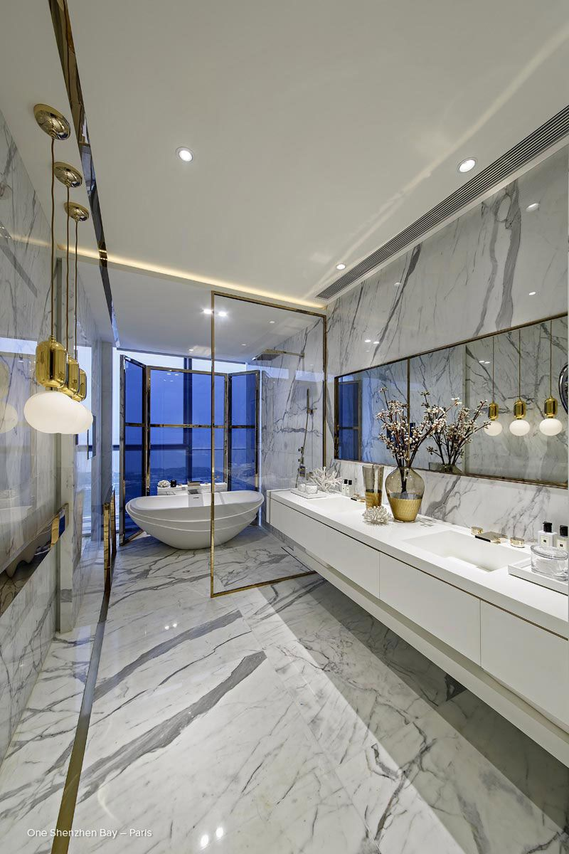Badezimmer ideen große fliesen an amazing bathroom by kelly hoppen take a look on our blog for more