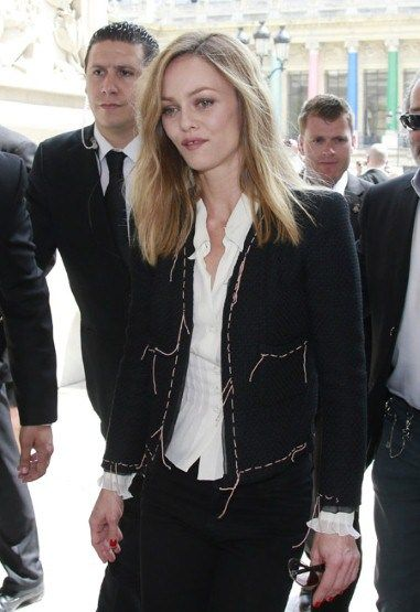 Celebrities at Paris Haute Couture Week Fall 2013 Vanessa Paradis at Chanel