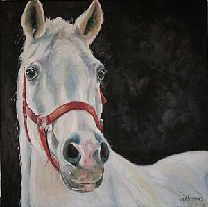 The White Horse by Micki Thomas Pastel ~ 20 x 20