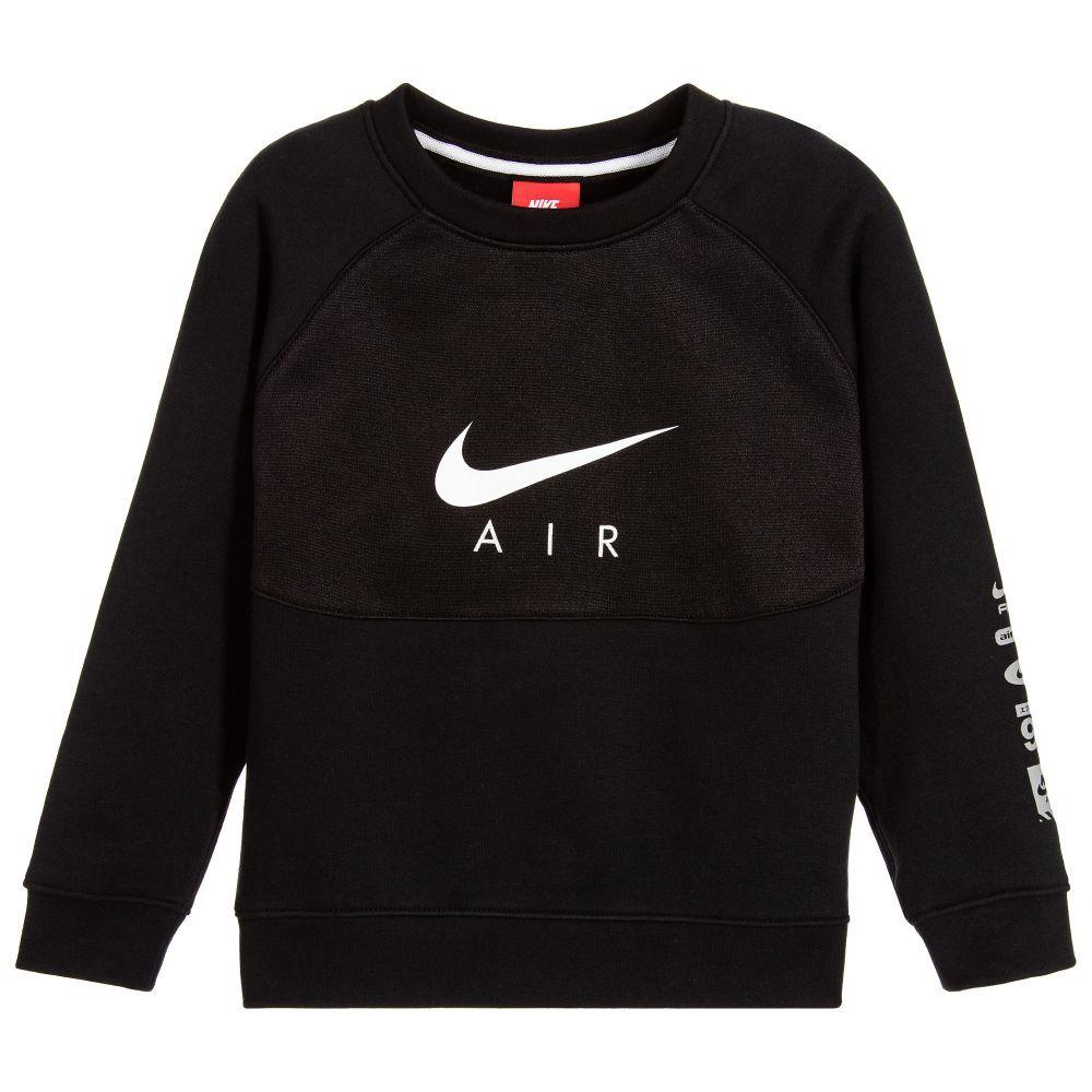 48c82d2c06f43d Nike Boys Black Nike Air Sweatshirt at Childrensalon.com