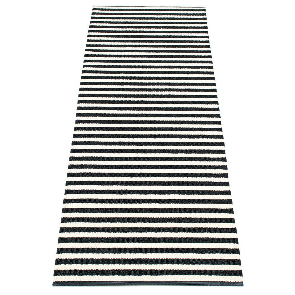 Pappalina Lisa Stripes Carpet Black White Homedecor Interiordesign Black Runner Rug Scandinavian Homewares Rugs