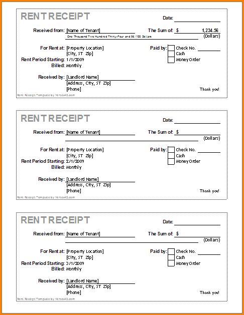 Room Rental Lease Agreement Room Rental Agreement Rent Receipt Template