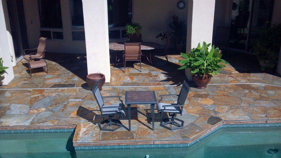 1,500 SQFT natural Flagstone patio