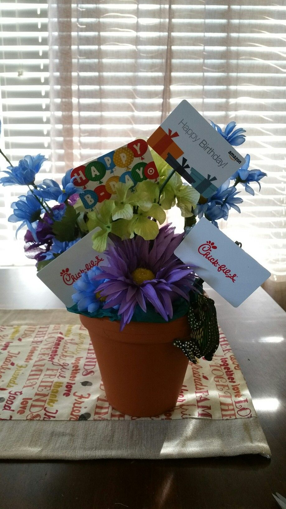 Diy gift card bouquet for teacher with images gift