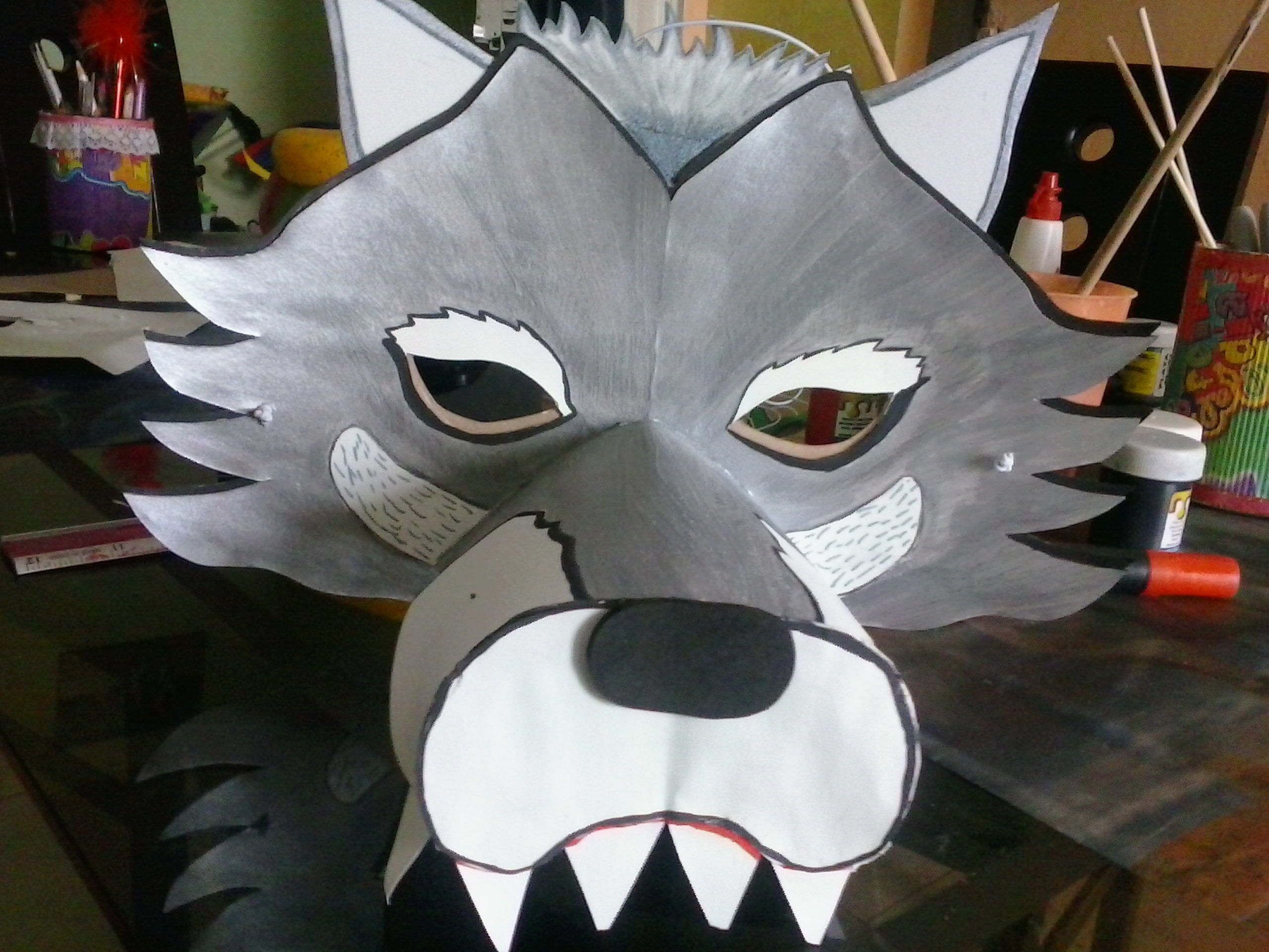 Mascara De Lobo Mascaras Teatro Pinterest Mascaras