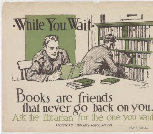 Books are friends...