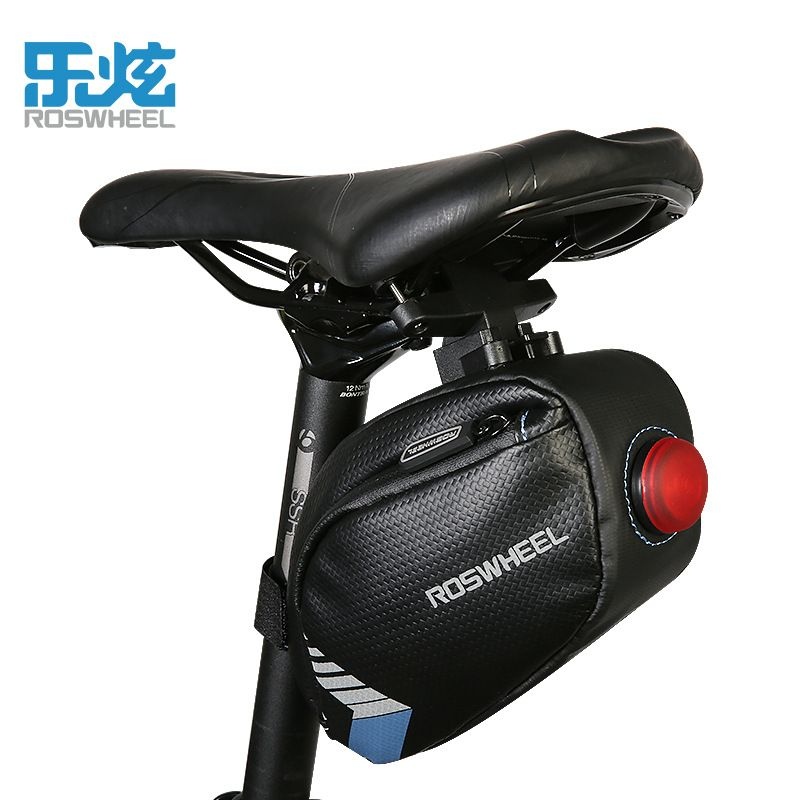 ROSWHEEL MTB Road Bike Bicycle Tail Rear Pouch Seat Storage Cycling Saddle Bag