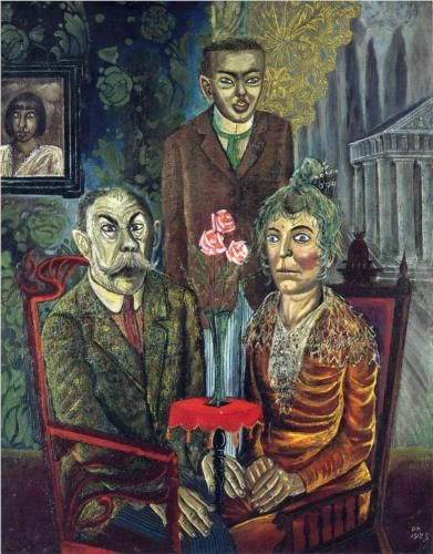 Otto Dix (1891-1969) The Family of the Painter Adalbert Trillhaase (1859-1936) 1923 #OttoDix
