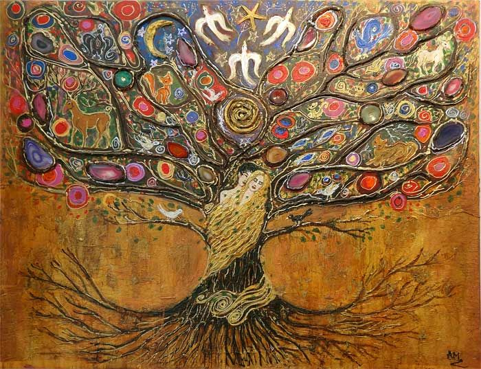 l 39 arbre de vie de anne marie zilberman art onirique arbres de vie pinterest onirique. Black Bedroom Furniture Sets. Home Design Ideas