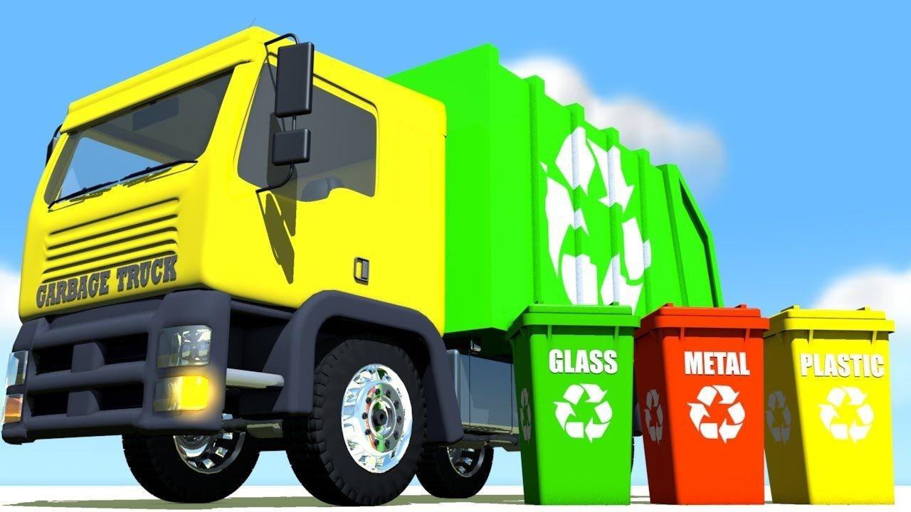 Camiones de basura infantiles para niños ✓ \
