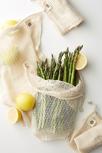 Ever Eco 4-Pack Organic Cotton Net Produce Bags !! Kitchen | kitchenware | Modern Kitchenware | Kitchenware Design | Kitchen Ideas | Kitchen Decor #kitchen #kitchenware #modernkitchenware #kitchenwaredesign #kitchenideas #kitchendecor
