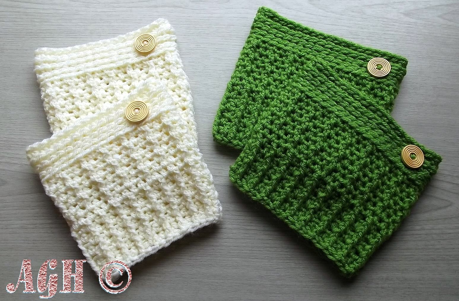 Brick Street Boot Cuffs, free crochet pattern by AGHandmades ...