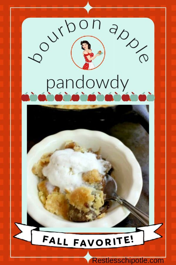Bourbon Apple Pandowdy in an Iron Skillet Bourbon apple pandowdy is an old-fashioned dessert with a