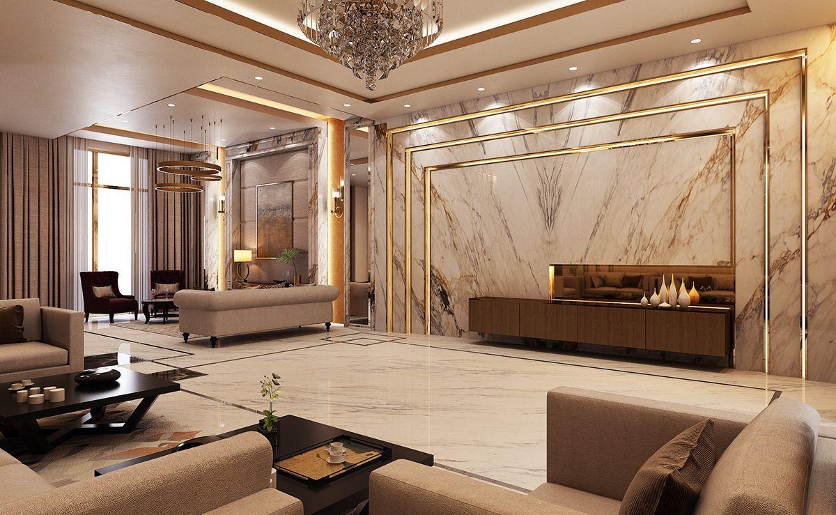 Luxury Modern Villa Qatar On Behance Living The Laptop Lifestyle And Learning H Luxury Living Room Design Luxury House Interior Design Modern Luxury Interior