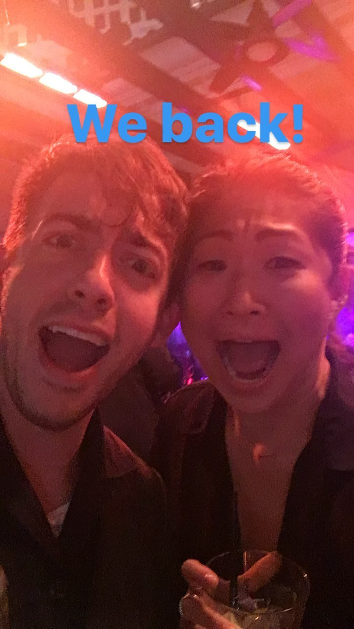 "kevinmchale-news: """"Kevin McHale and Jenna Ushkowitz in Las Vegas (February 4, 2017) "" """