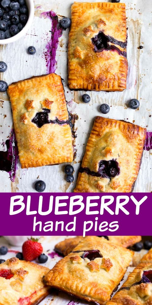 Mini Blueberry Hand Pies (and Strawberry, too!) | Dessert for Two