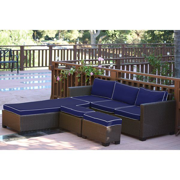 Best Hermann 5 Piece Sectional Seating Group With Cushions 400 x 300