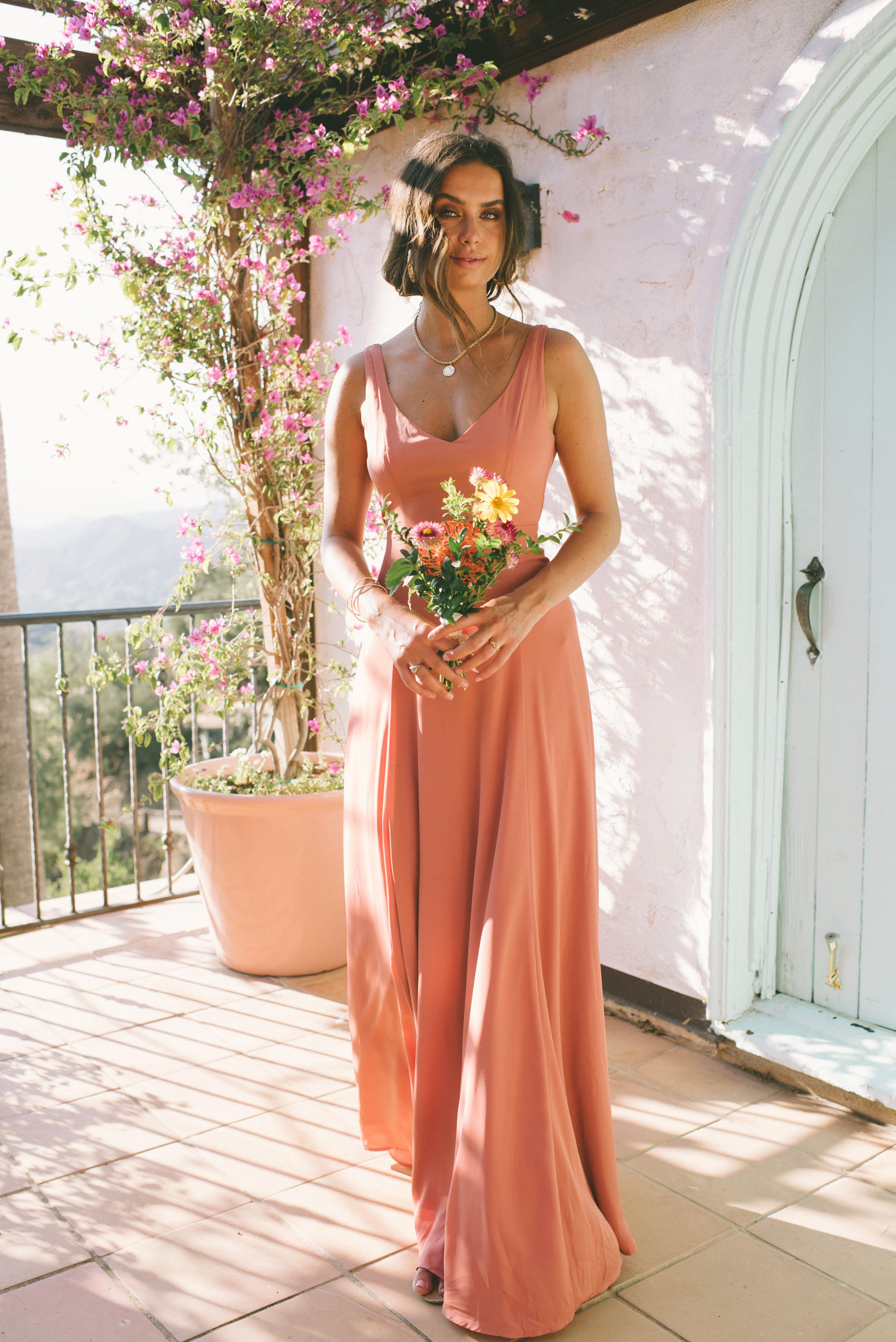 Jenn Maxi Dress Rustic Mauve Crisp Casual wedding