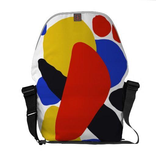 Messenger coloured bag Calder inspired collection #colourbags #messengerbags #calder #avantgarde www.zazzle.com/objectivedesign