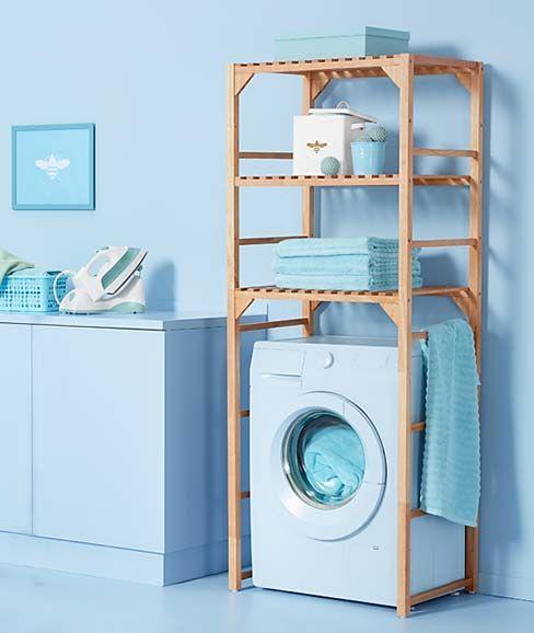 Bei Tchibo Sind Reinigungsprofis Am Werk Saubere Boden Perfekte Waschepflege Mehr Platz Echte Spulfre Regal Uber Waschmaschine Schrank Waschmaschine Regal