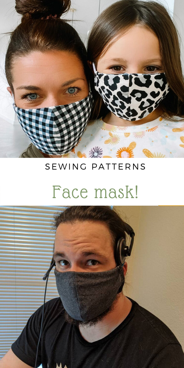 Photo of Face Mask with filter pocket Sewing Pattern PDF Mask for kids man wumen Washable Reusable Mask Dust mouth Mask Beginner Easy  project