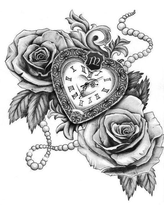 Birds Locket Timepiece Full Sleeve: Love This Tattoo, It Would Be Lovely On Upper Thigh