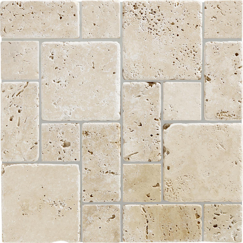 Mosaique Mineral Travertin Artens Ivoire Travertin Travertin Leroy Merlin Salle De Bains Design Carrelage